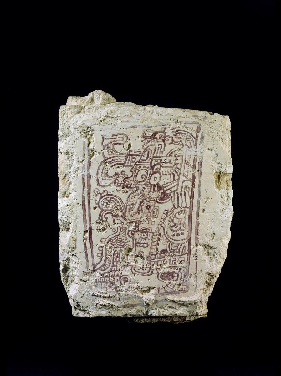 Gewölbedeckstein / Vaulted coping stone, Dzibilnocac, Campeche, Mexiko